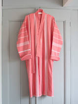 hammam bathrobe size M, coral red