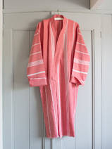 hammam bathrobe size M, brick red