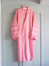 hammam bathrobe size M, candy pink