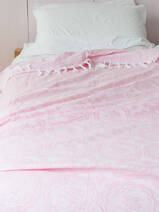summer blanket powder pink