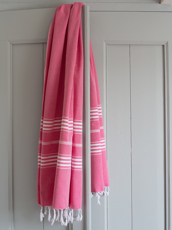 hammam towel ruby red