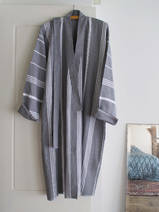 hammam bathrobe size M, dark grey