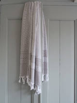 hamam towel with terry cloth, dark grey