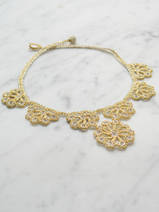 crocheted necklace Large Flowers