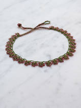 crocheted necklace Leaves