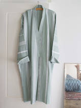 hammam bathrobe size M, grey-green