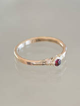 ring Petite red crystal 17 mm