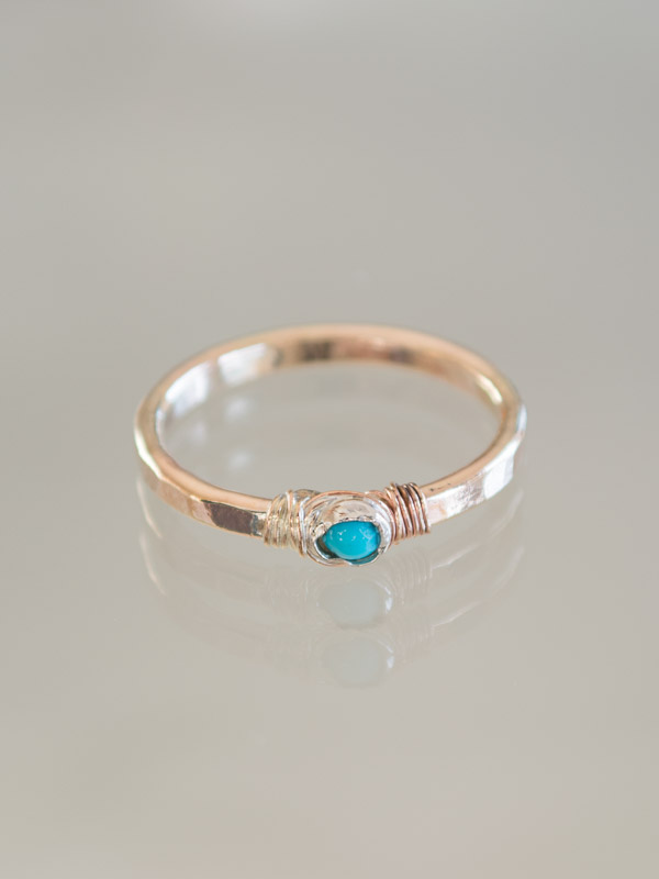 bague Petite turquoise 17 mm