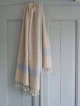 linen hamam towel lavender striped
