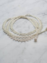 crocheted necklace Long Wrap