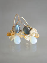 earrings Bee labradorite, citrine, opalite