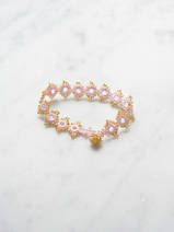crocheted bracelet Daisy