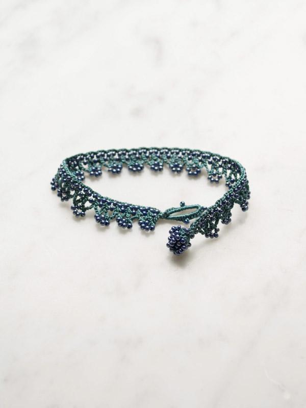 Crocheted Bracelet Triangles Crochet Bracelets Jewellery
