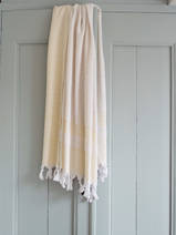 hammam towel with terry cloth, yellow