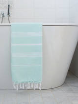 hammam towel mint/white