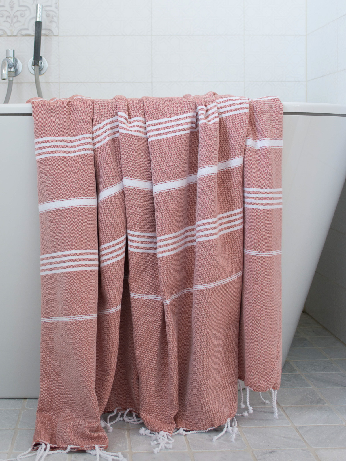hammam towel copper/white