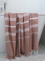 hammam towel brown/white