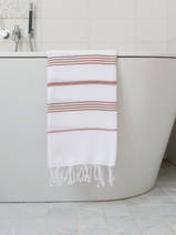 hammam towel white/brown