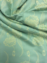 damask green with yellow, 1 meter
