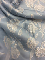 damask blue with silver-grey, 1 meter