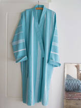 hammam bathrobe size M, aqua