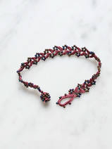 bracelet en crochet Triangles