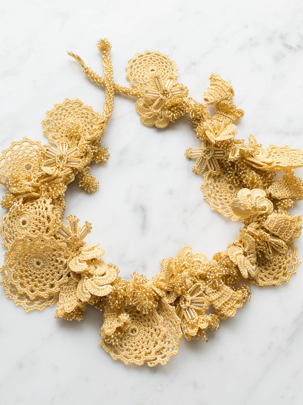 crocheted necklace Bunch of Flowers