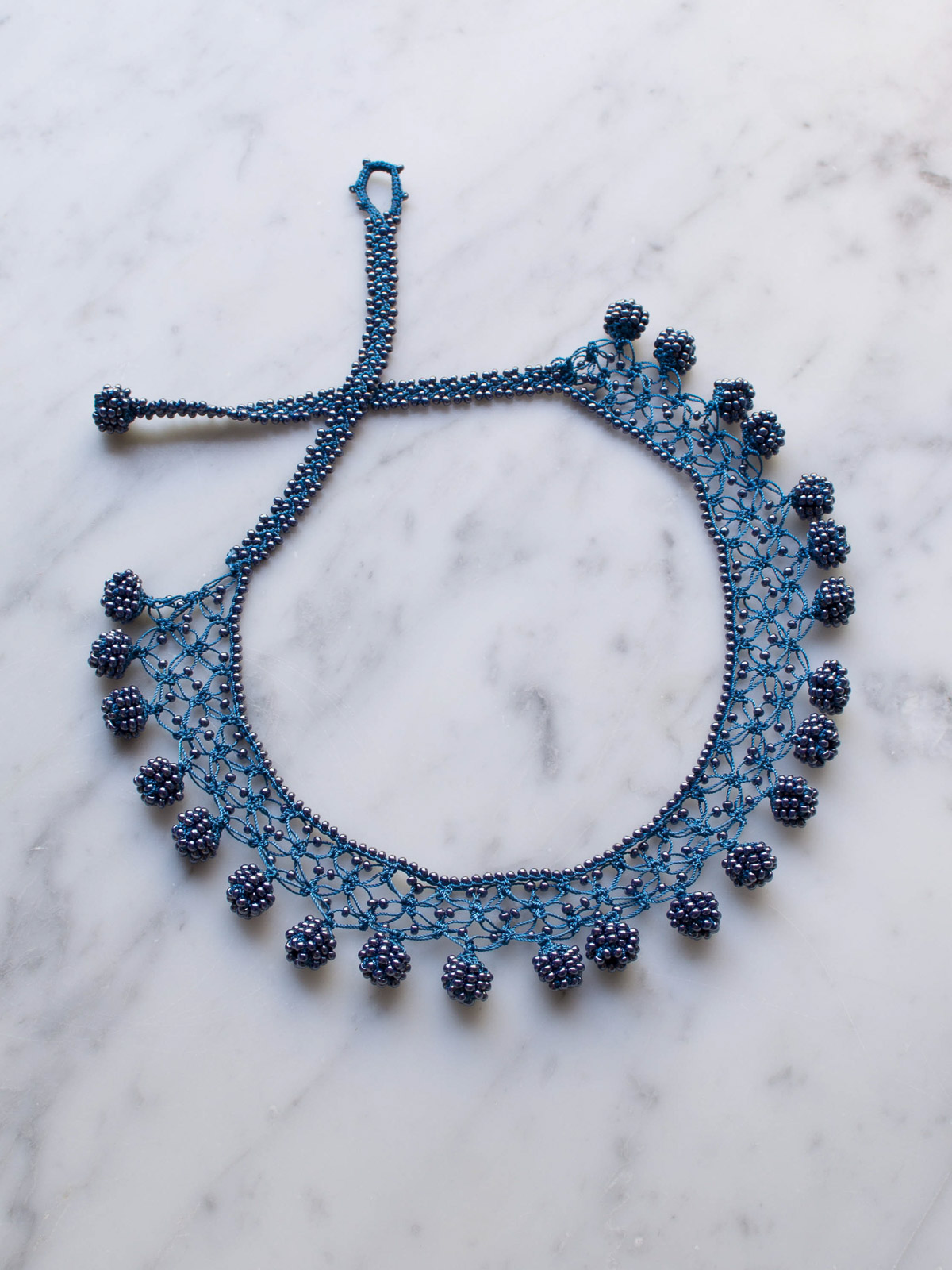 Crocheted Necklace Dots Crochet Necklaces Jewellery Ottomania