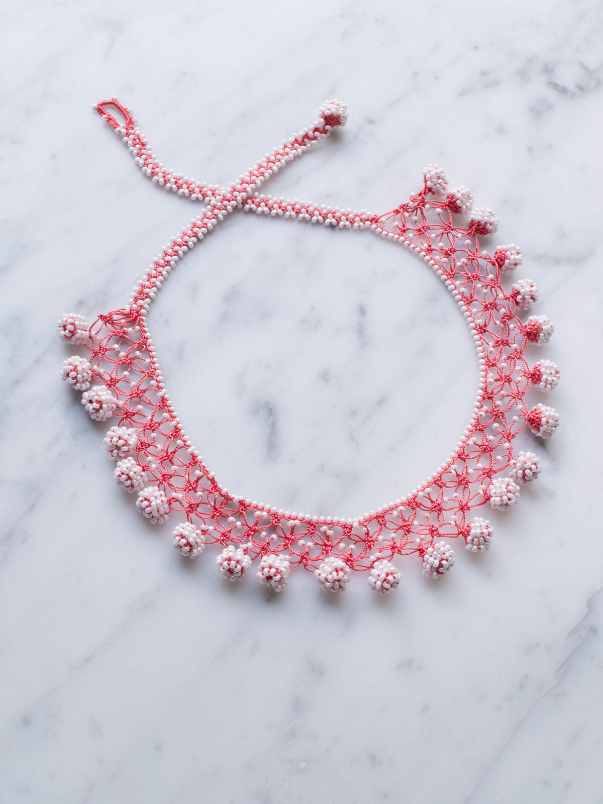 crocheted necklace Dots