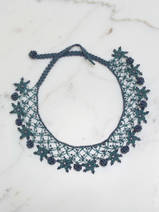 crocheted necklace Stars