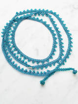 collier en crochet Long Wrap