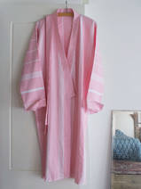 hammam bathrobe size M, powder pink