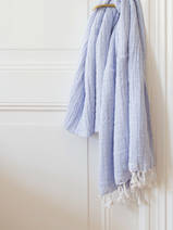 hammam towel double layered lavender