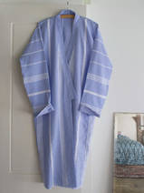 hammam bathrobe size M, lavender blue