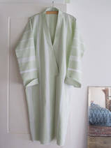 hammam bathrobe size M, sage