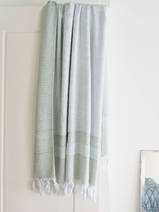 hammam towel with terry cloth, sage