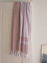 hammam towel with terry cloth, copper