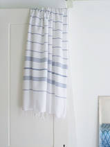hammam towel white/steel blue