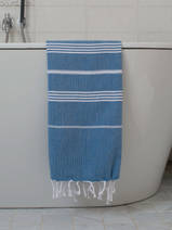 hammam towel ocean blue/white