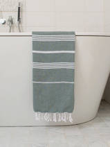 hammam towel pine green/white