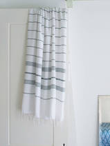 hammam towel white/pine green
