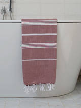 hammam towel chocolate/white