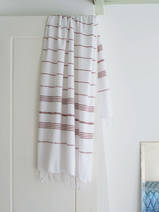hammam towel white/chocolate