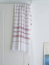 hammam towel white/burgundy red