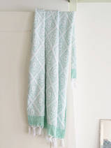 towel jade green