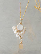 ketting Goddess maansteen en parels