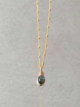 collier Wire mini oval, labradorite