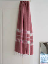 hammam towel burgundy