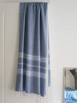 hammam towel steel blue