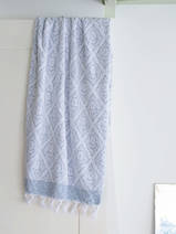 towel jeans blue